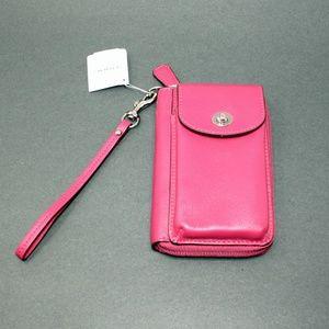Coach Wristlet Wallet in Fuchsia Pink Style F50070